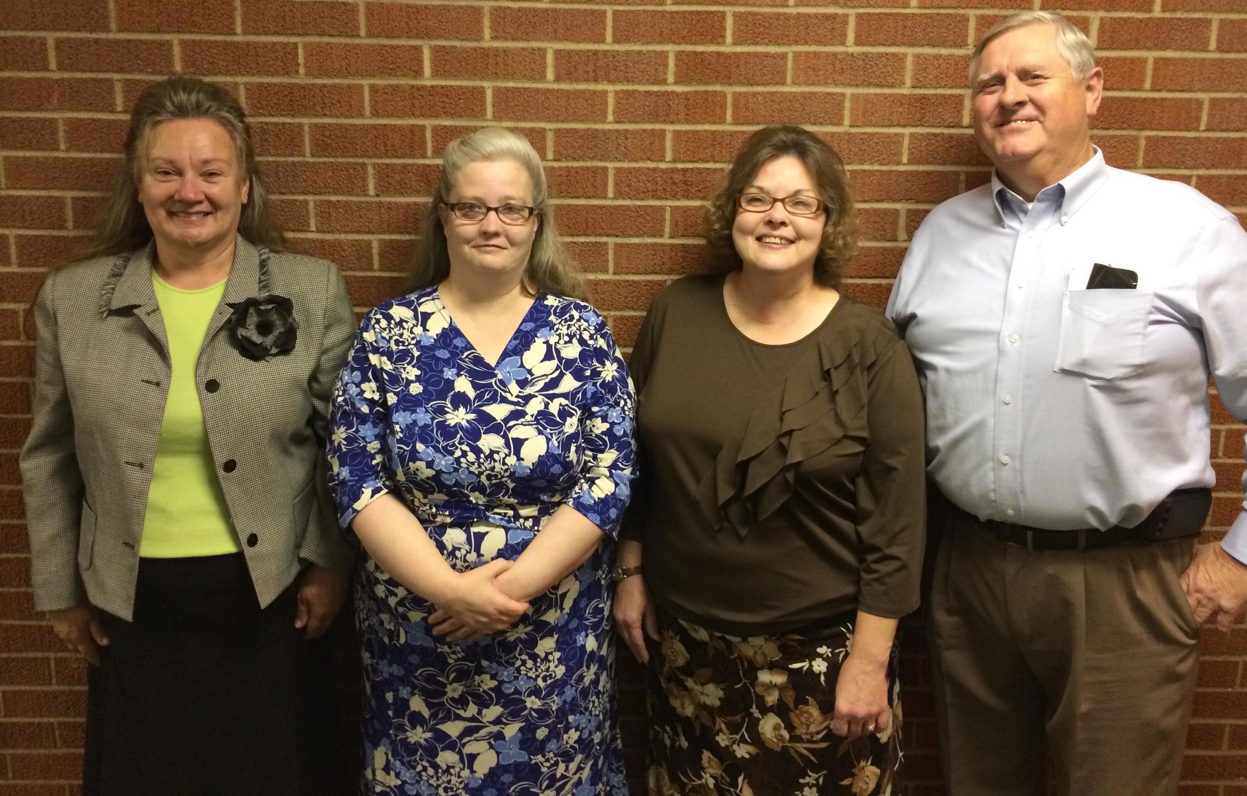 Our Bus Captains: Bonnie Bontrager, Lisa Whitacre, Laurie Jackson, and Bill Brimm