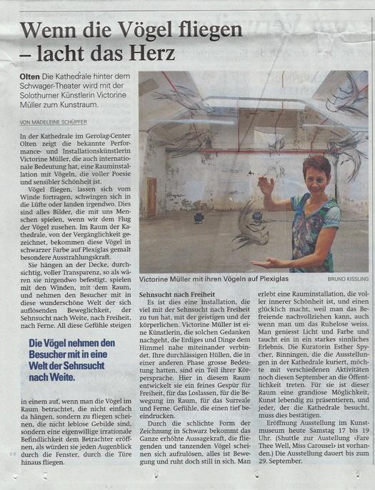 Artikel im Oltener Tagblatt vom 8.9.2013