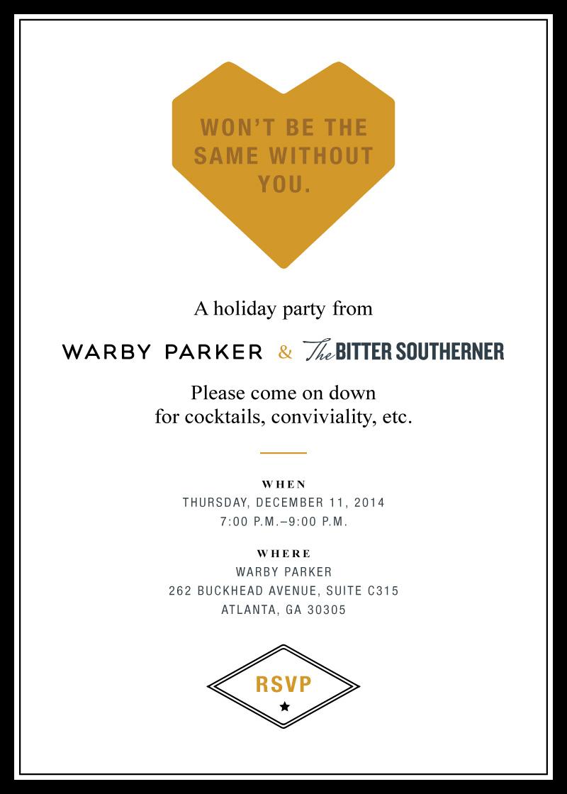 Bitter Southerner branded invite.