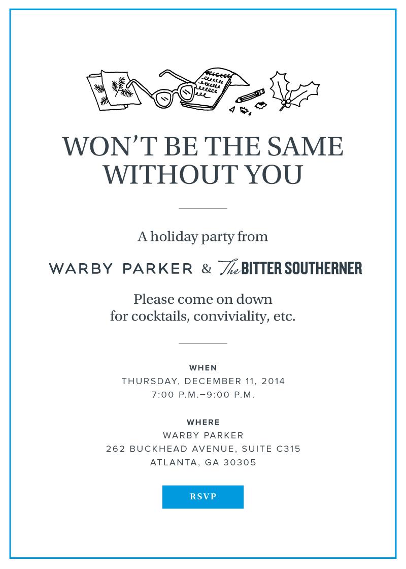 Warby Parker / Bitter Southerner Invite