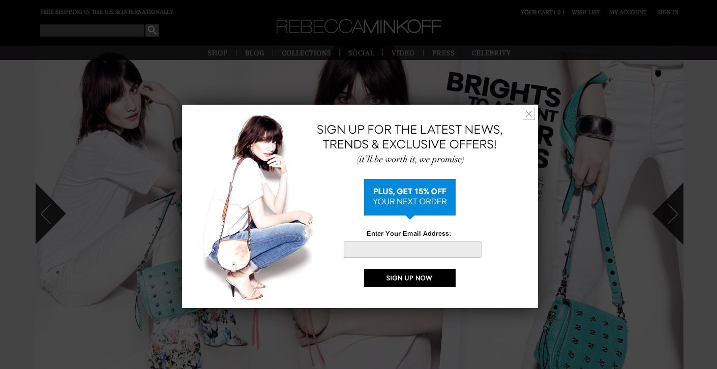 Email Popup Design