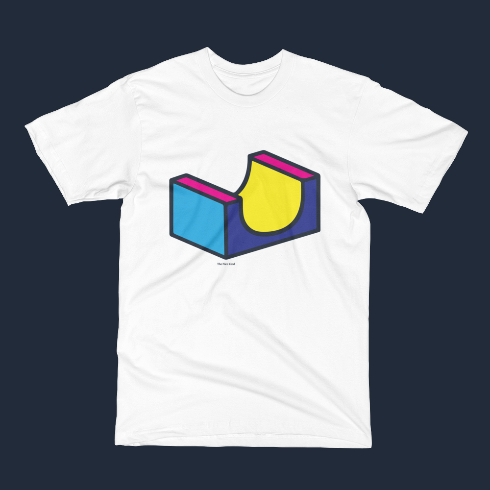 Half-pipe graphic t-shirt.