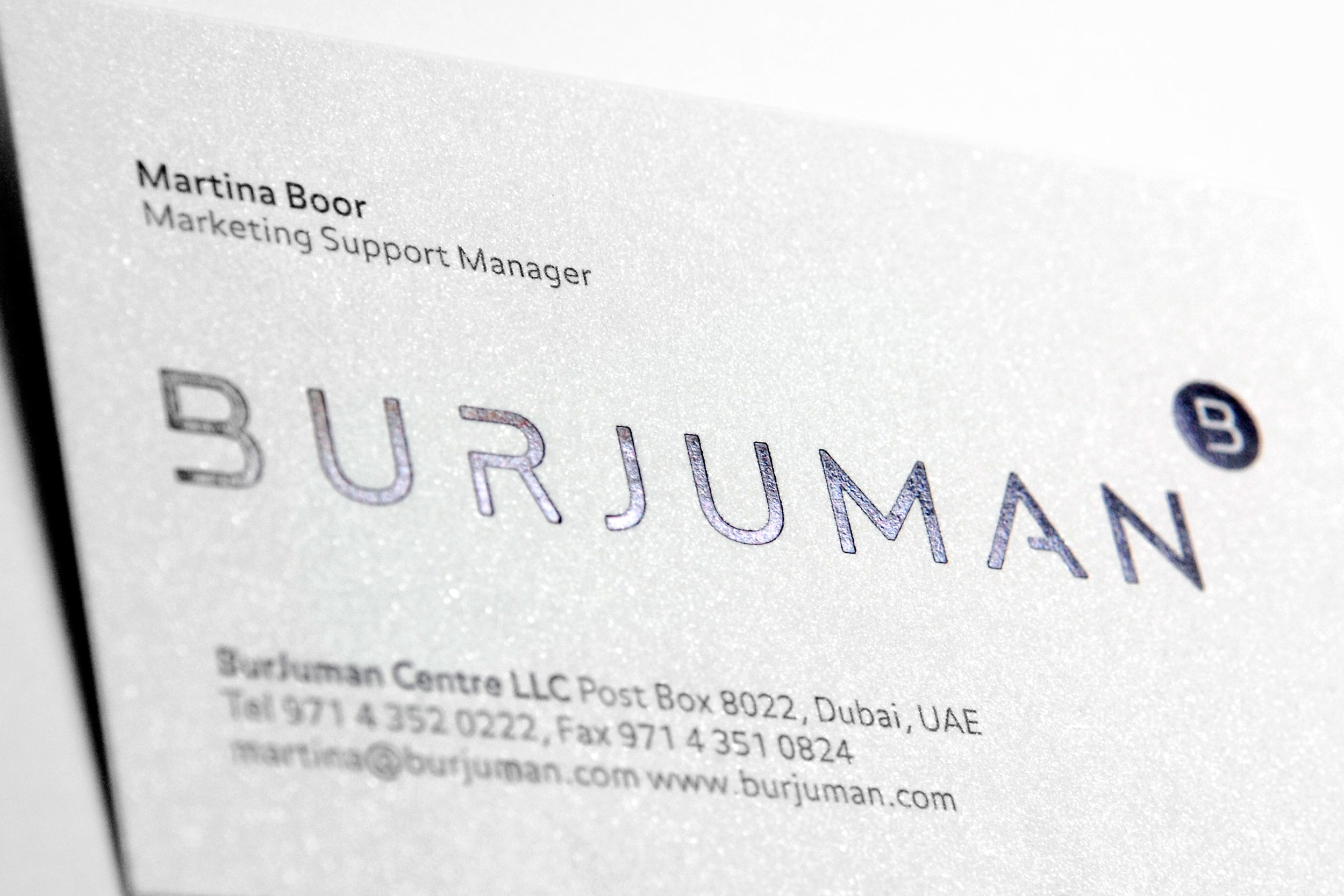 The new BurJuman business card.