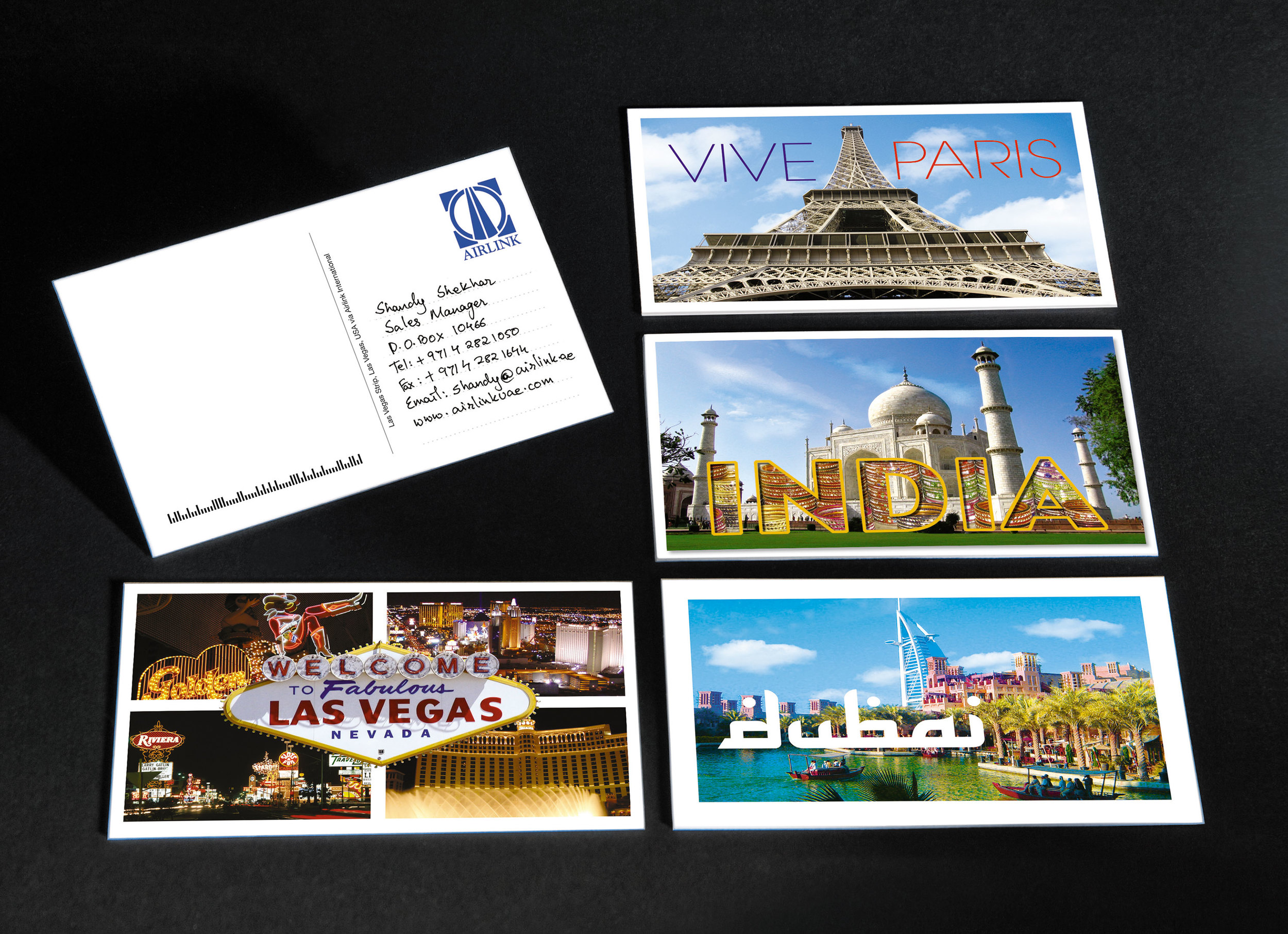 Every travel agent had their respective travel destination sectors printed as their business cards.