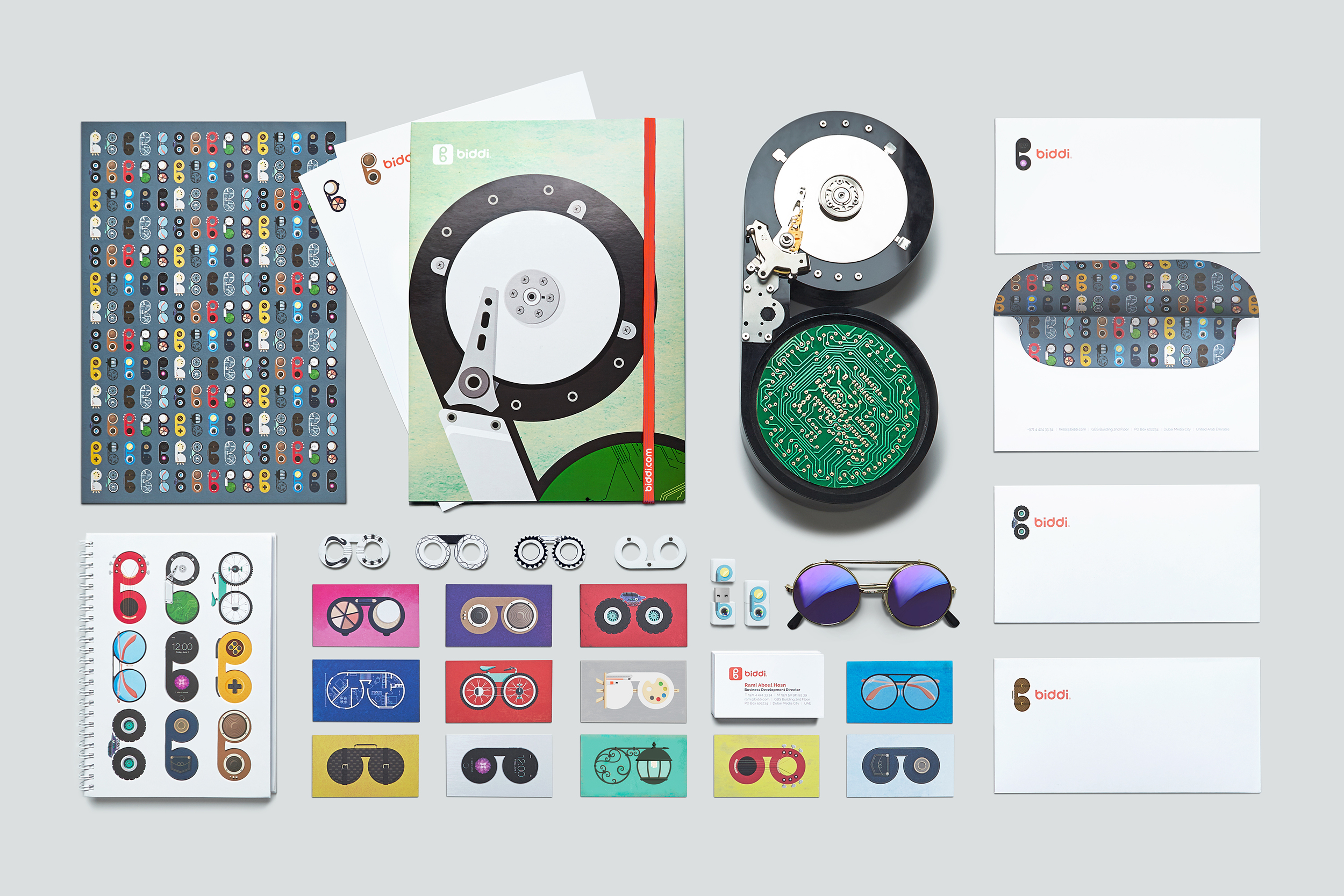 Multiple design versions were used so each staff will always have a different set of stationery when meeting new clients or sending out correspondence.