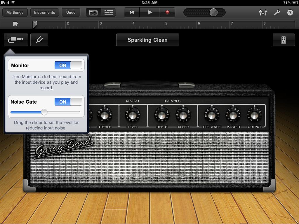 Garage Band, la app musical de Apple, con claros toques skeumórficos