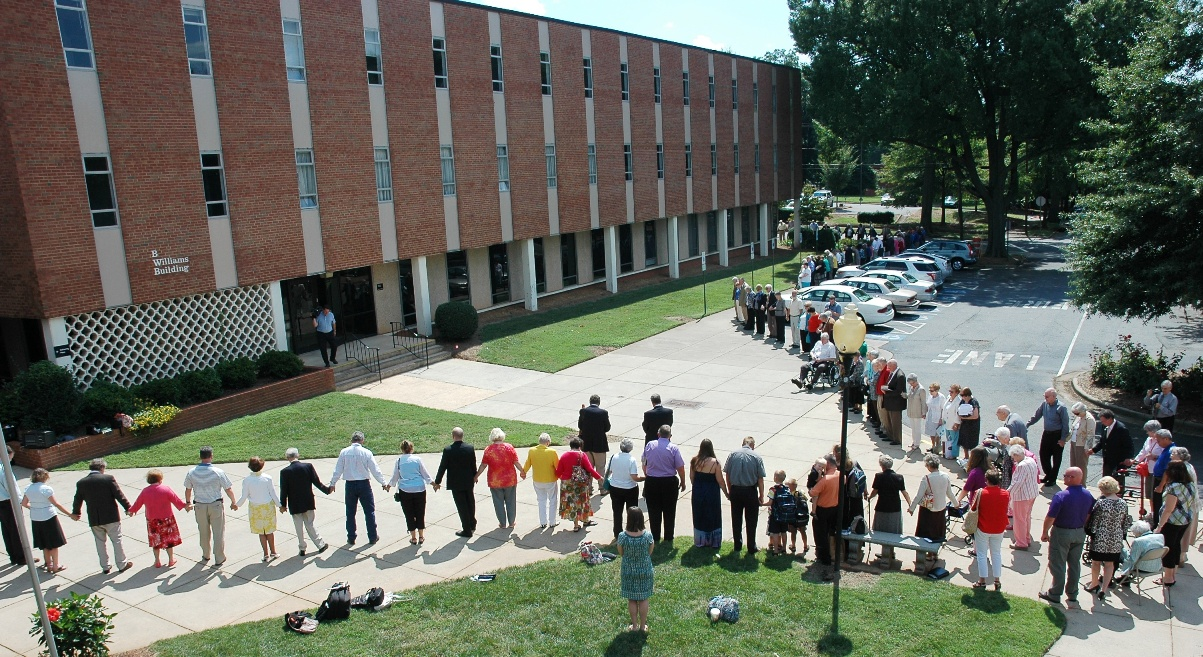 To view pictures of the Williams Center Prayer Circle and wall writing, click here