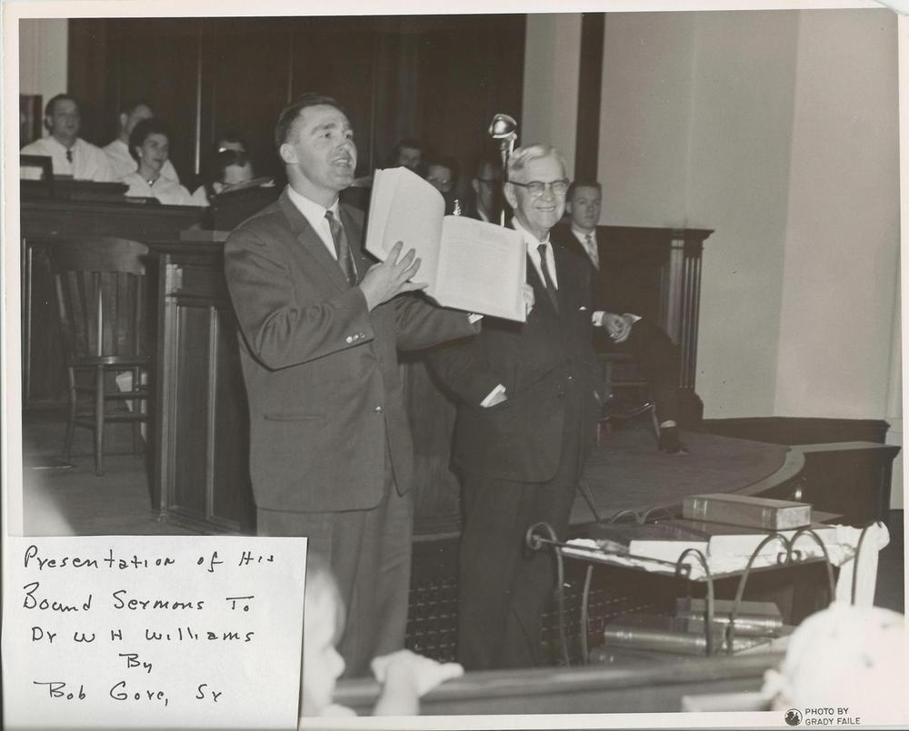 Bob+Gore+Sr.+presents+bound+sermons+to+Dr.+Williams+c.+late+1950's.jpg