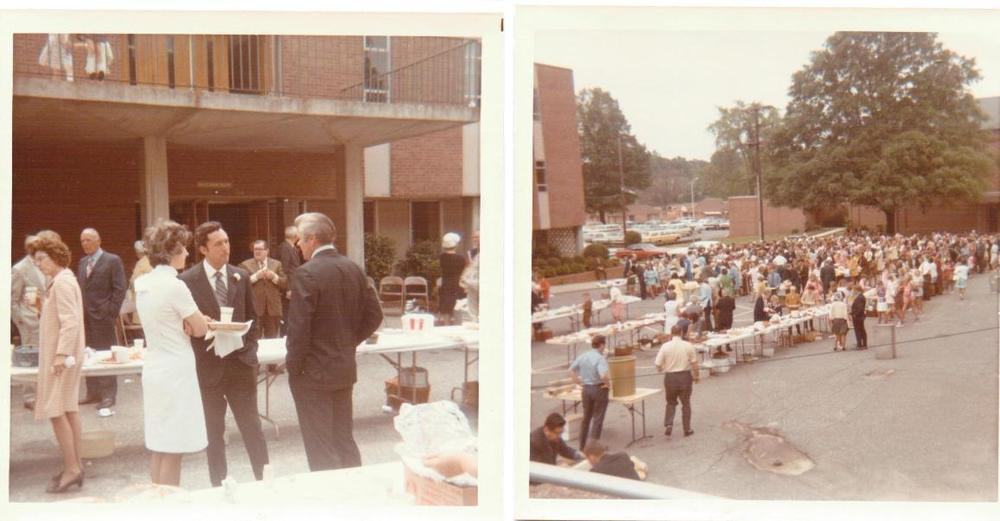 Homecoming++c.+early+70's,+Williams+parking+lot,+people,+Dub+Talbert,+others.jpeg