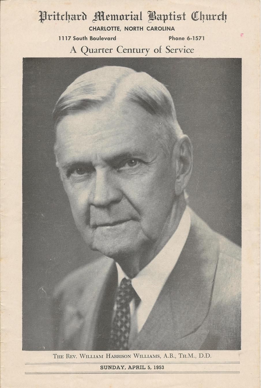 PMBC+Dr.+William+H.+Williams+1953+25th+Anniversary+Bulletin.jpg