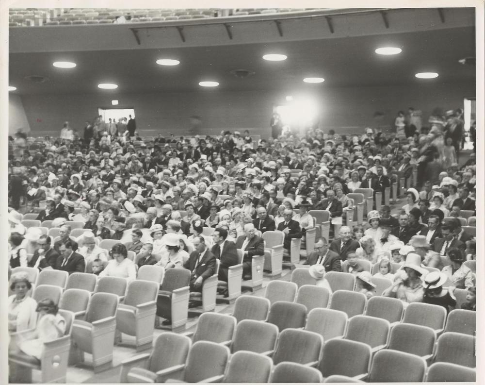 PMBC+Easter+Service,+congregation,+at+Ovens+Auditorium+mid-1960.jpg