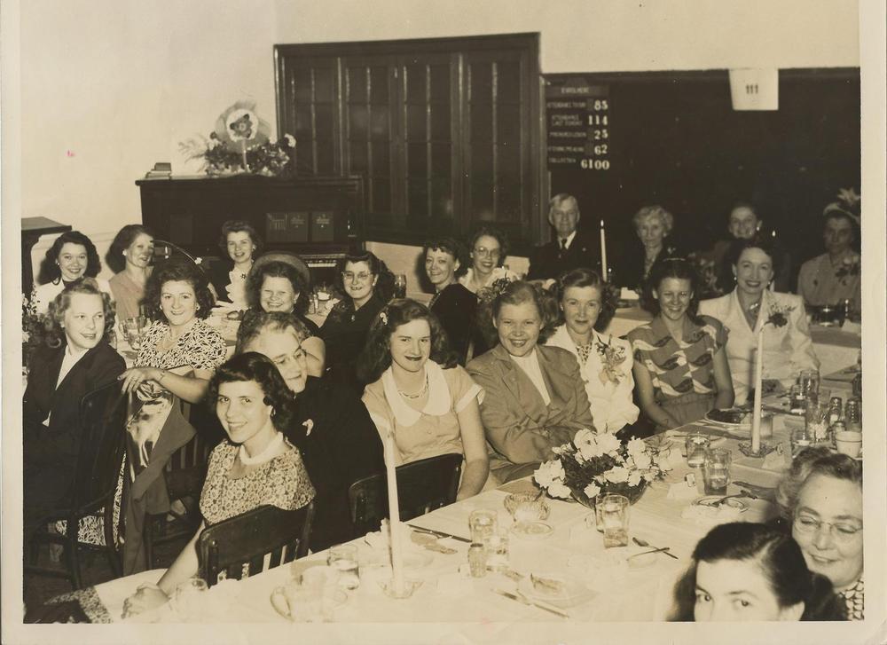 PMBC+Ladies+YMA,+Ruth+Fletcher+in+back,+Dr.+&+Mrs.+Williams+c.+mid-1950's.jpg