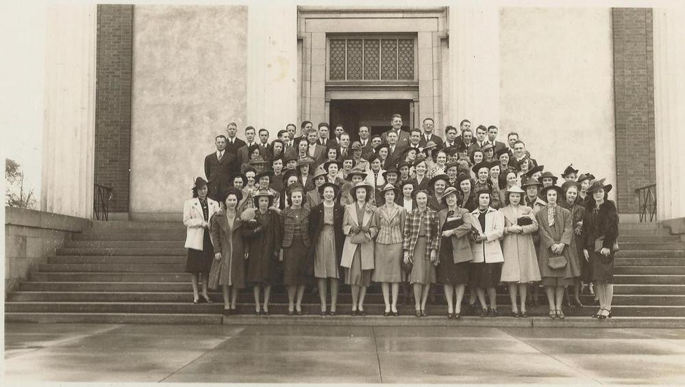 PMBC+SS+teachers+April+Homecoming+1939+front+steps+sanctuary.jpg