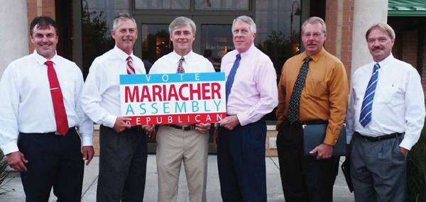 Elma Councilman James Malczewski, Councilman Michael P. Nolan,Supervisor Dennis M. Powers, Councilman Thomas Fallon and Councilman Tracy Petrocyofficially endorse David Mariacher for New York State Assembly.