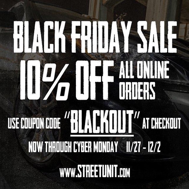 BLACK FRIDAY - CYBER MONDAY SALE from now until Monday take 10% off all orders and door busters on streetunit.com Use the coupon code: BLACKOUT #blackfriday #cybermonday #sale #streetunit #mazdaspeed #mazdaspeed3 #mazdaflow #mazdanation #mazdamovement