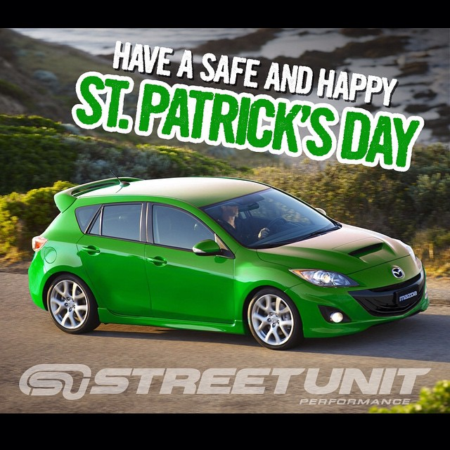 Happy St. Patrick's Day! Remember to have fun, stay safe, and zoom-zoom! #stpaddysday #stpaddys #stpaddy #mazda #mazdaspeed #freshmazdameet #streetunit #mazdanation #zoomzoom #livemm #cultureM #mazdausa #mazdamovement #mazda3only #performance #mazdaflow #mazdaspeed3 #mazdaspeed6