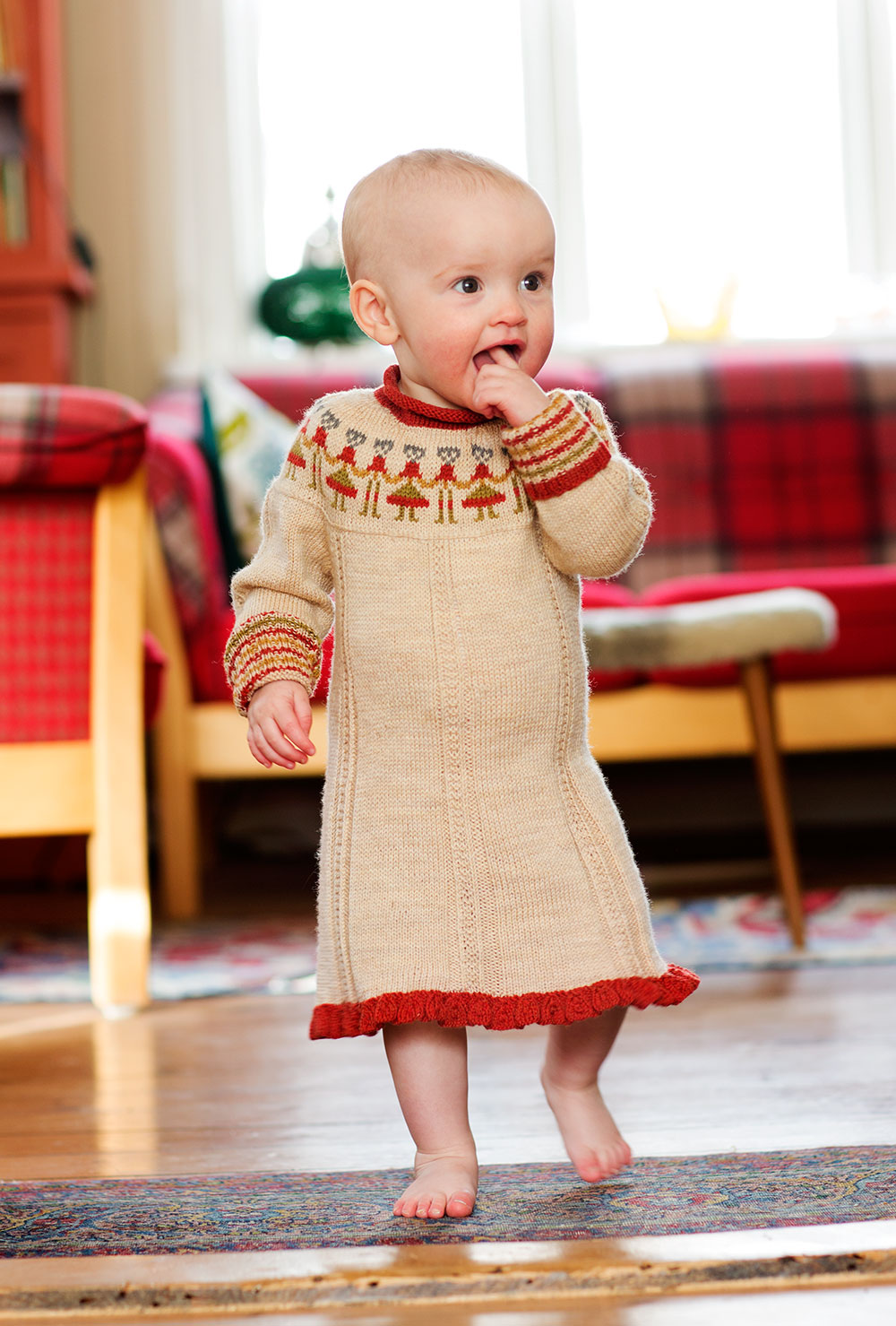 A recent knit for my granddaughter Elisabeth - my knitting victim
