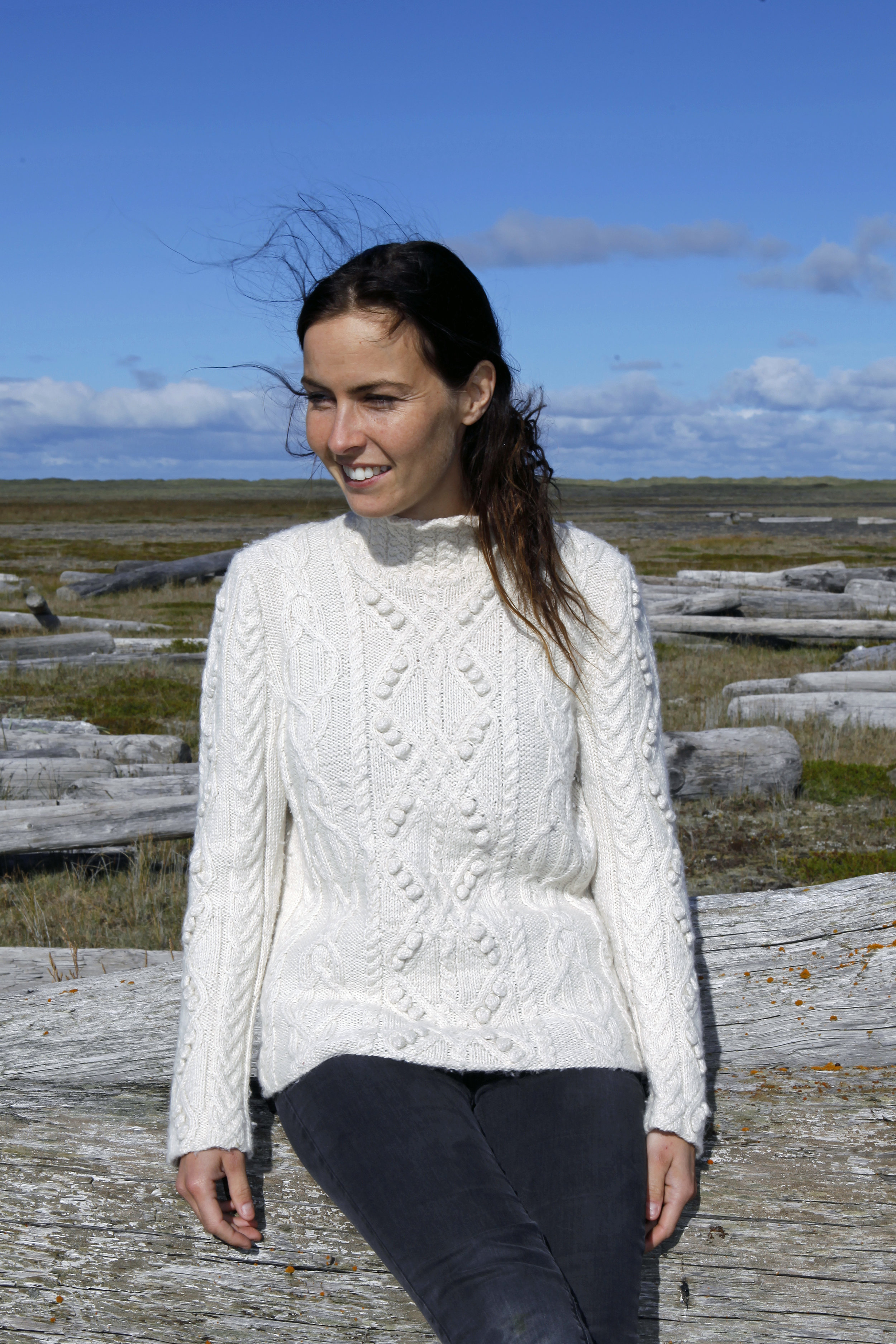 My beautiful daughter in law - Gígja - the grand photographer of most of my knitting
