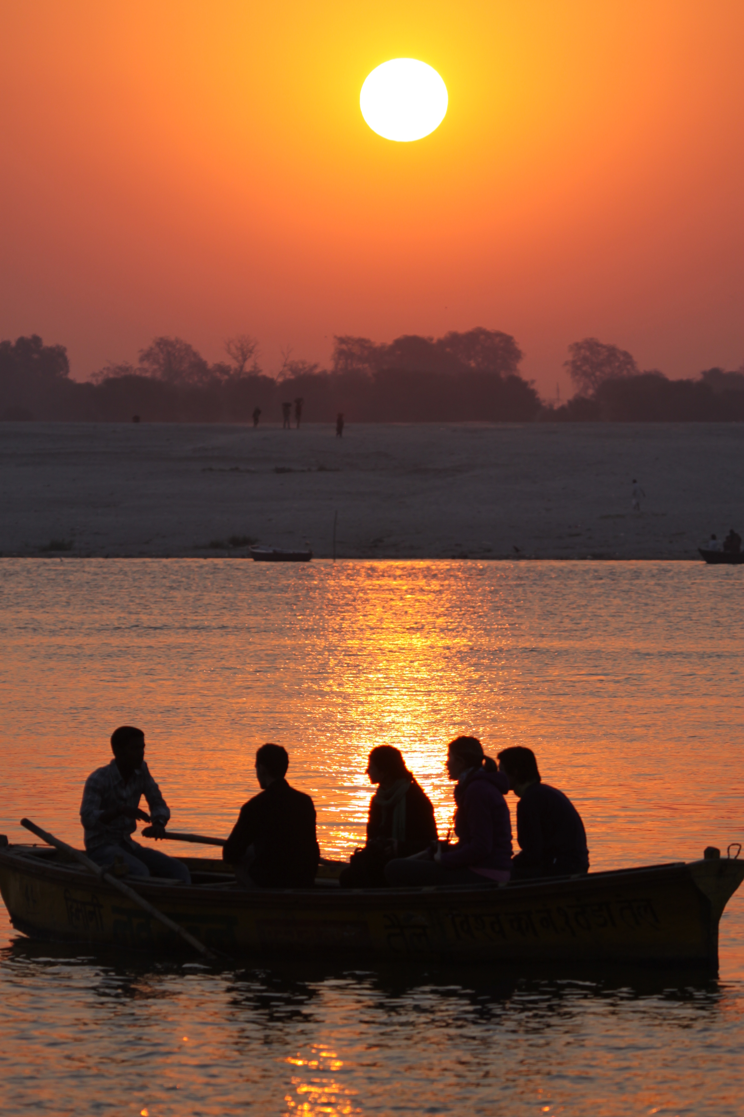 Sunrise on Ganga river      Varanasi