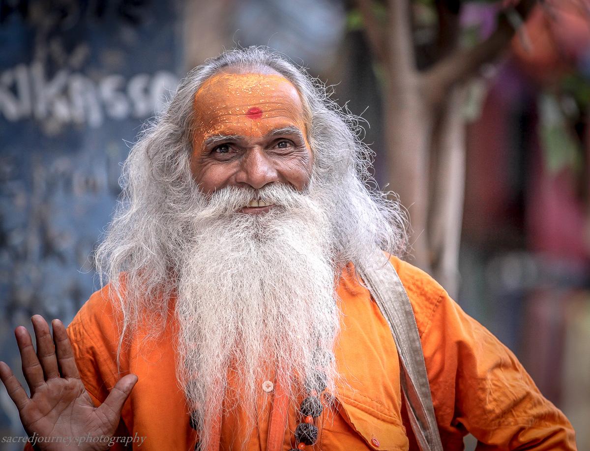 Happy Sadhu in Pushkar