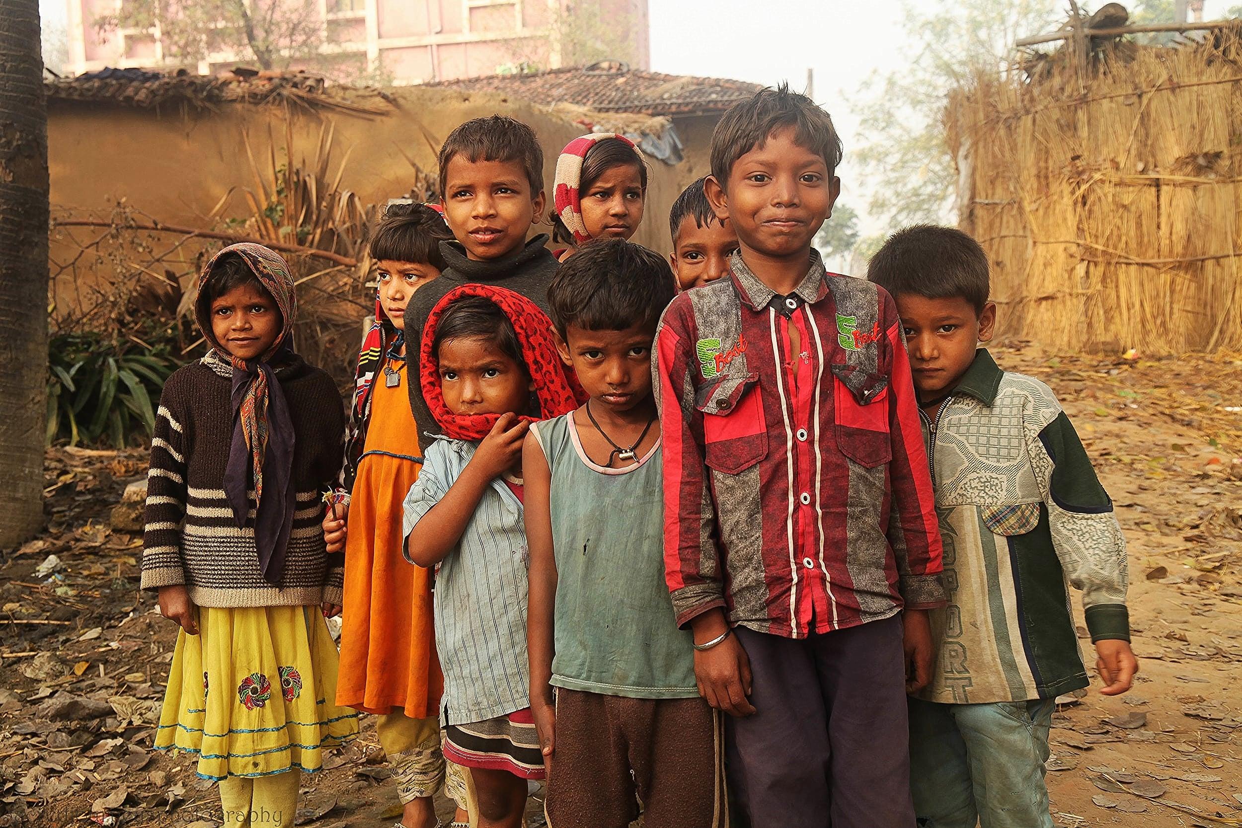 Village Children             Bodhgaya