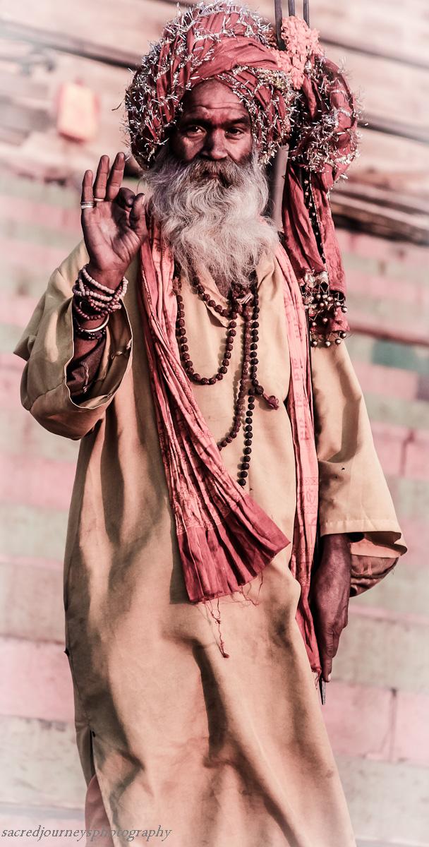 Sadhu on the ghats in Varanasi