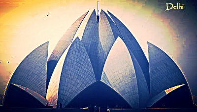 The Lotus Temple ~ of The Bahai Faith  ~ A beautiful temple for silent                    practice