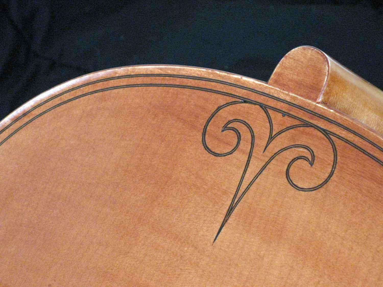 Inlay on cello