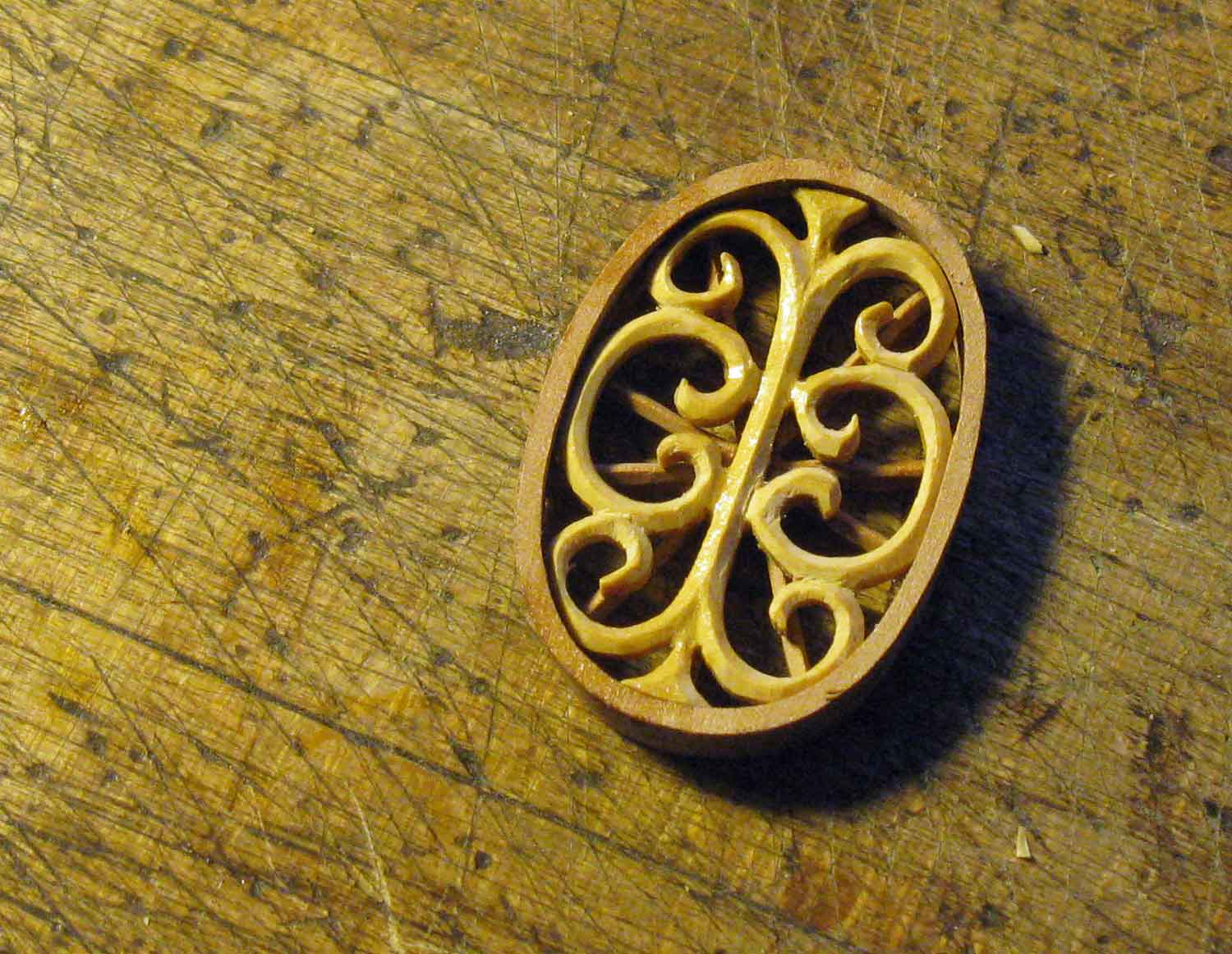 The rosette, ready to inlay