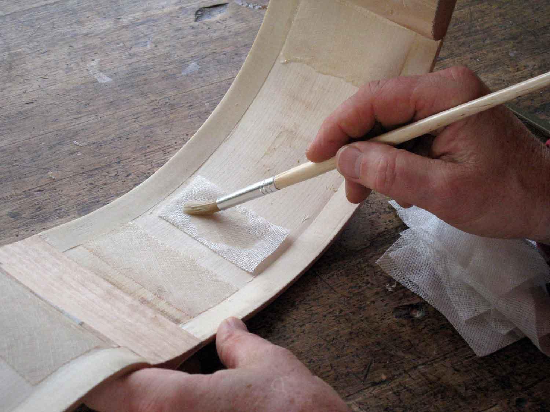 Adding linen reinforcing strips