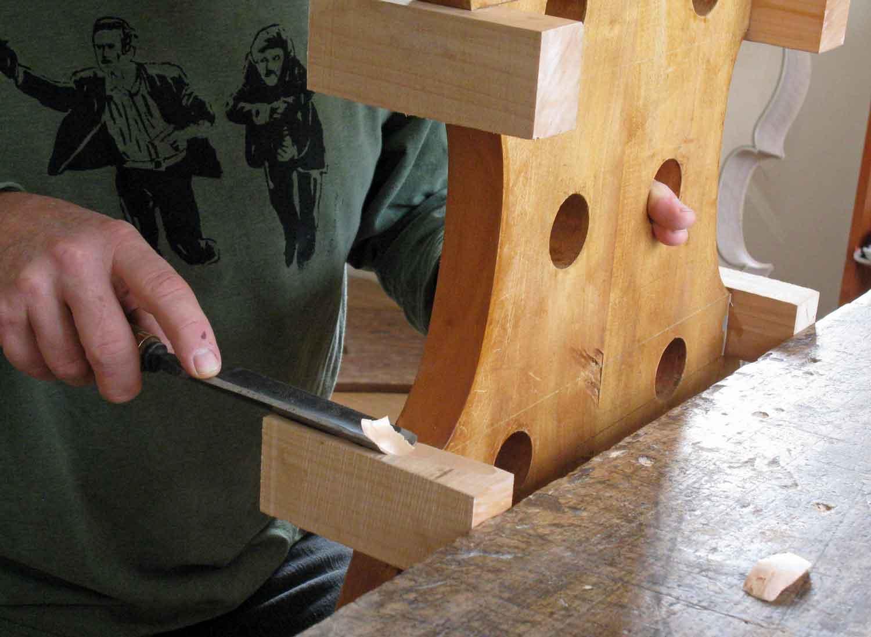 Cutting the corner block