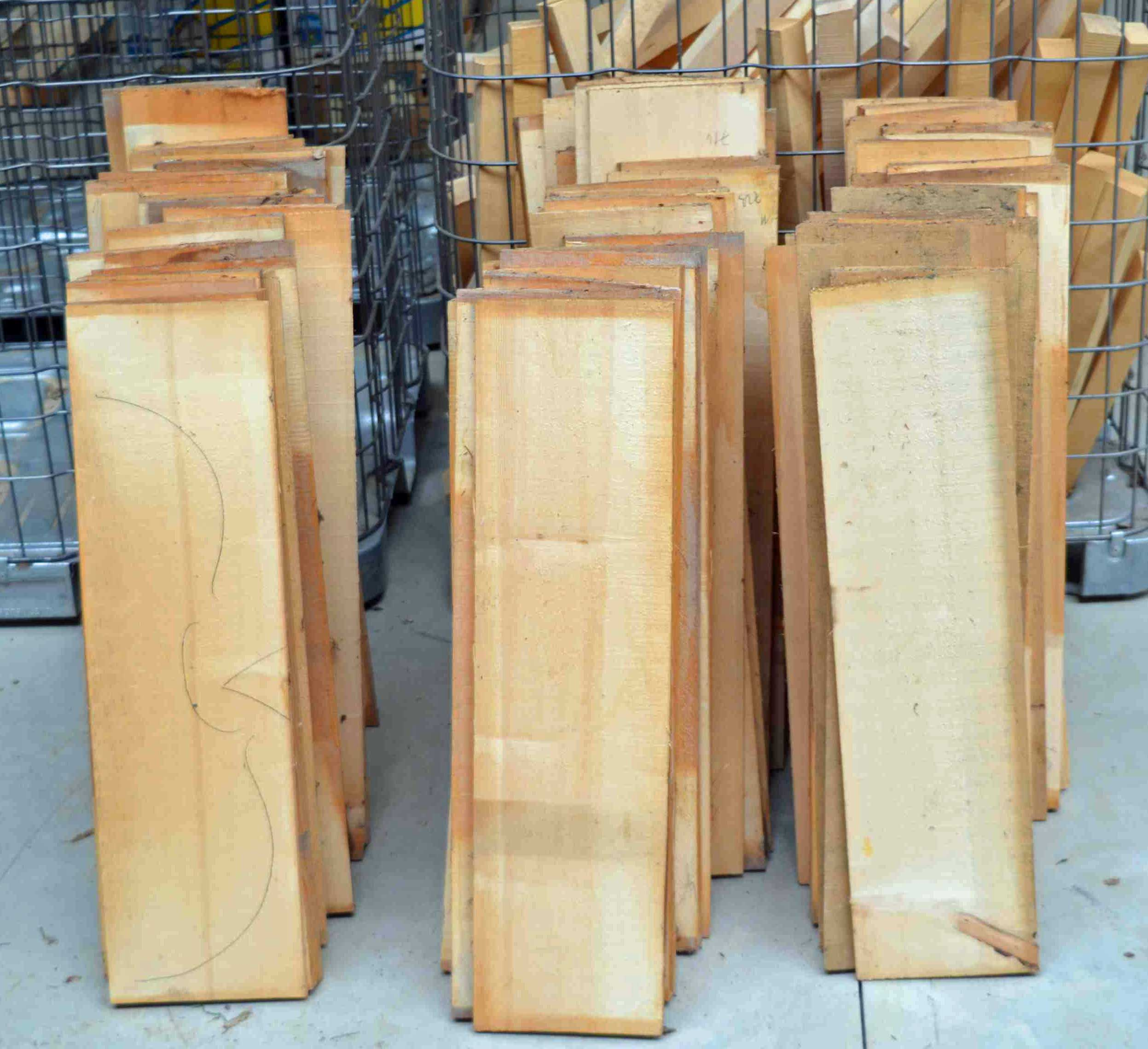 Cello tops, selected and ready to ship home.