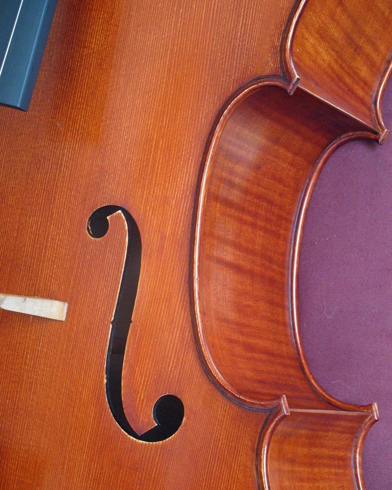 New cello, treble f-hole