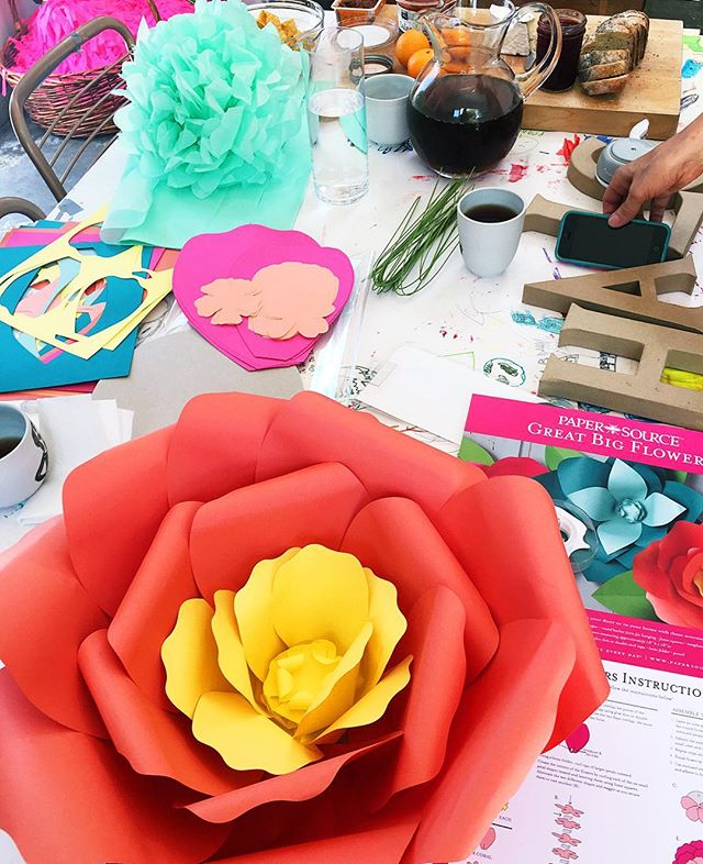 Had the best day crafting. Can I do it again tomorrow? #paperflowers #ha