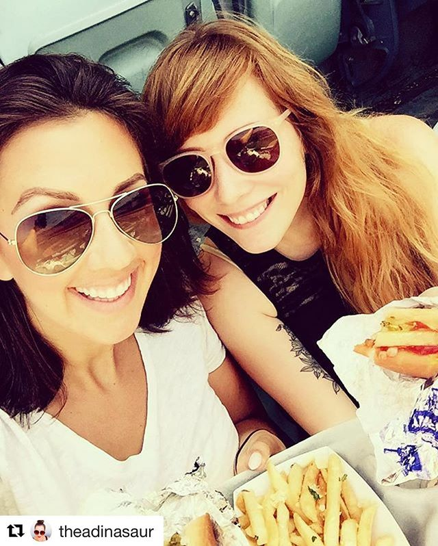 Yesterday's Dodgers vs. Red Sox game with @theadinasaur 🌭⚾️💛 #DodgerDogWin