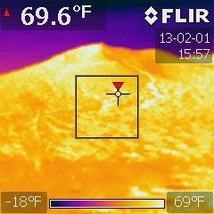 Volcano Temperature Difference Between Materials