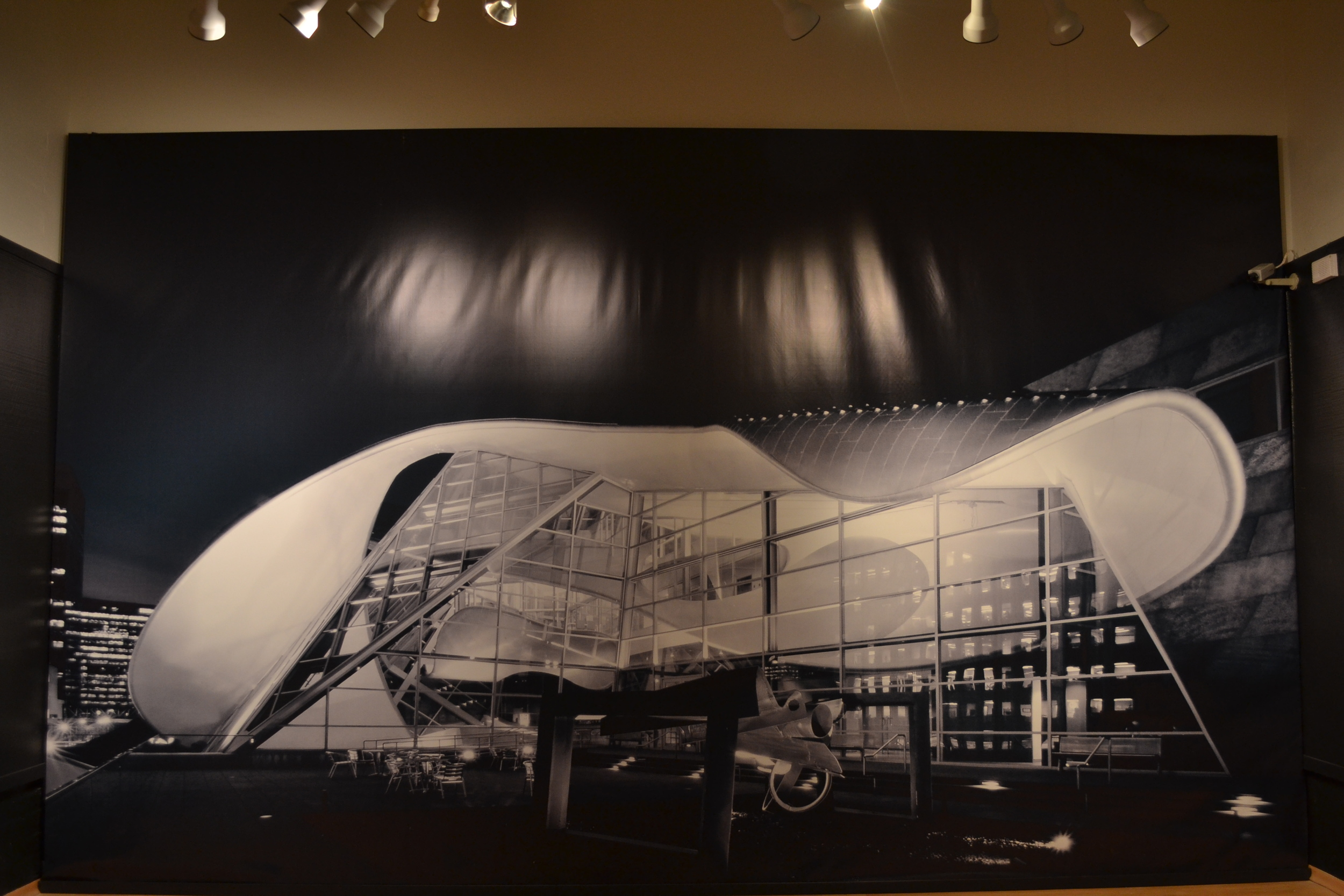 Vinyl Image of Alberta Gallery of Art by Randall Stout in the Bakersfield Museum of Art.