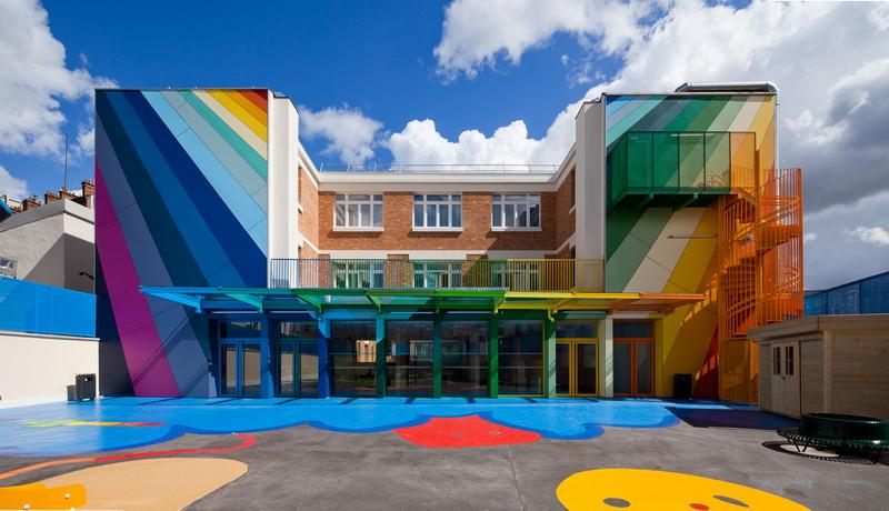 École m a ternelle Pajol  by  OLIVIER PALATRE ARCHITECTES  { via }