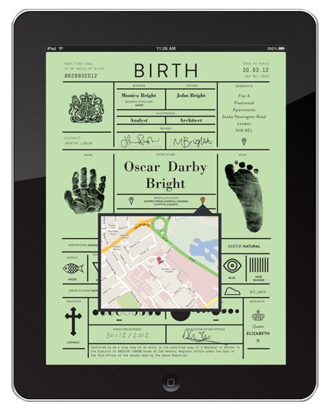 Certificado de nacimiento digital