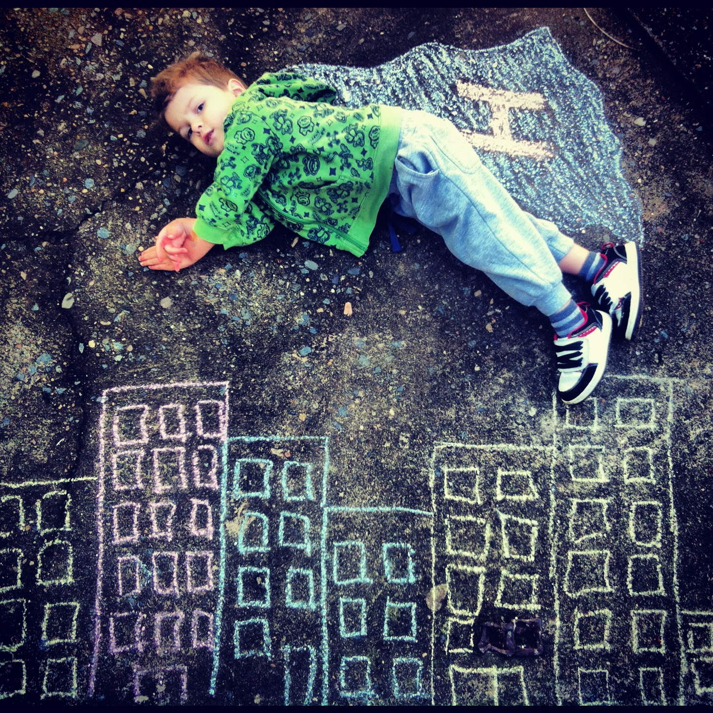 Chalk drawing photo 1