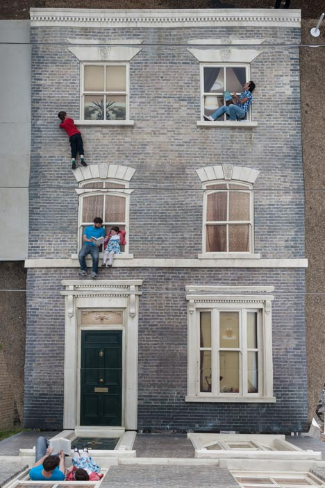 Dalston House by  Leandro Erlich  { via }