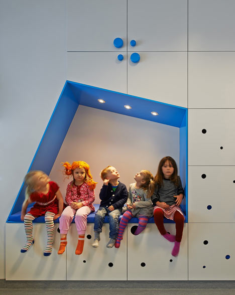 Stockholm kindergarten by Swedish firm Rotstein Arkitekter.