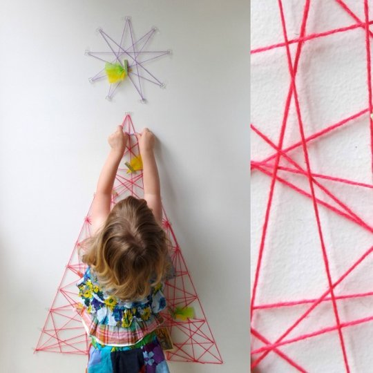 String Art Tree  via apartment therapy