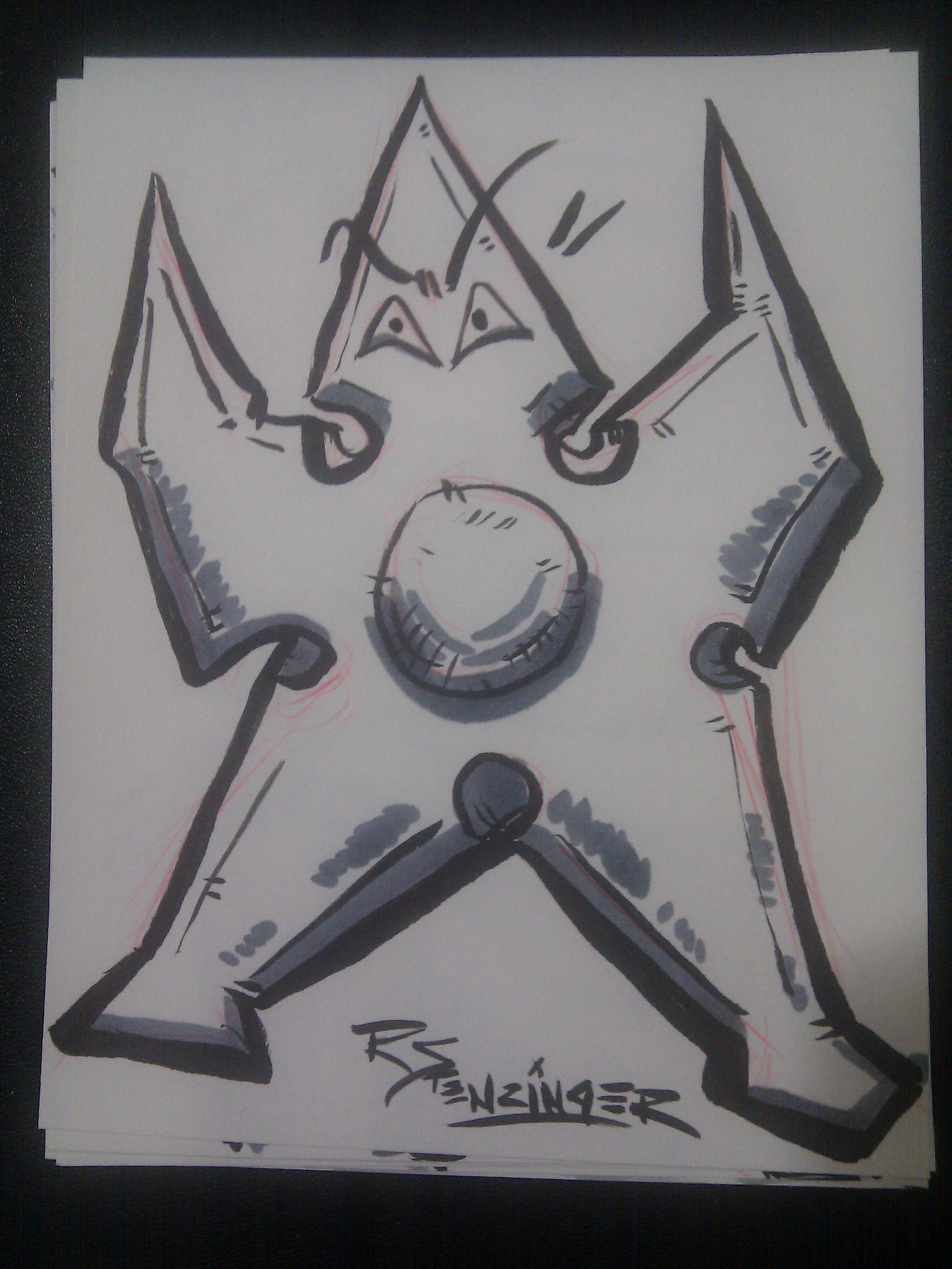 Sketchcards I made at Convergence #cvg2011 Artist Alley