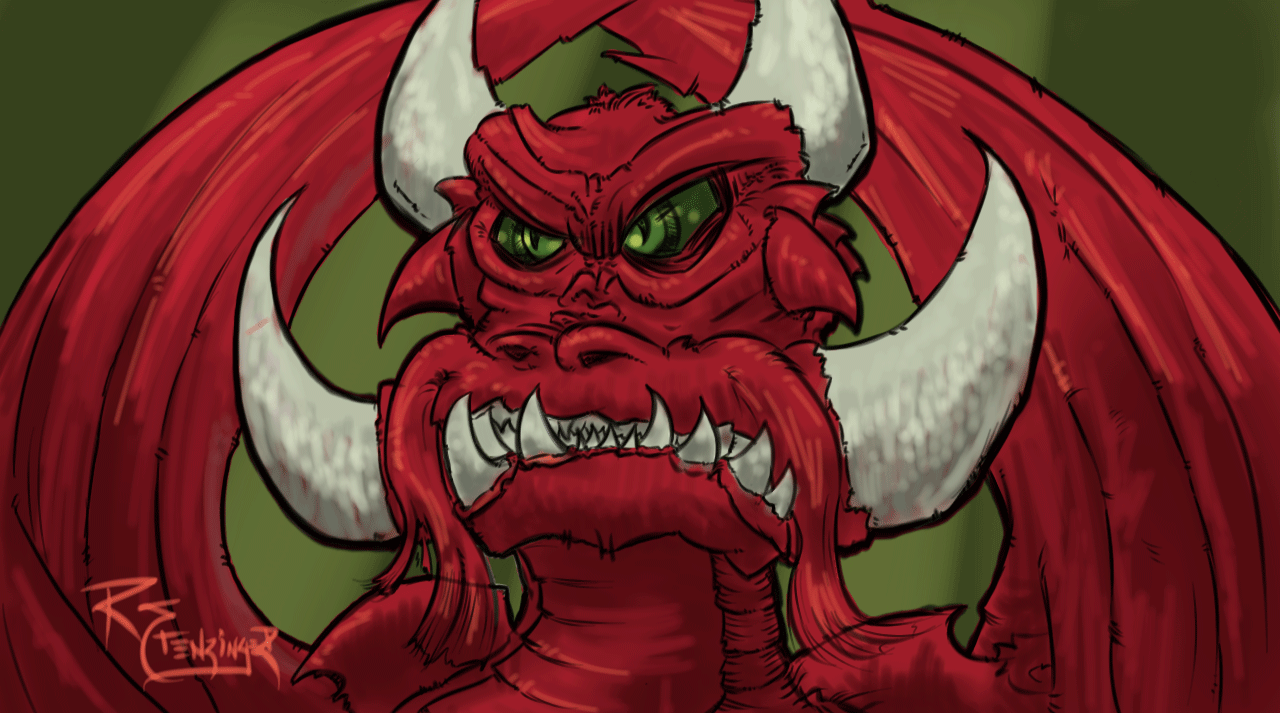 Red Dragon - Sketch and Quick Painting