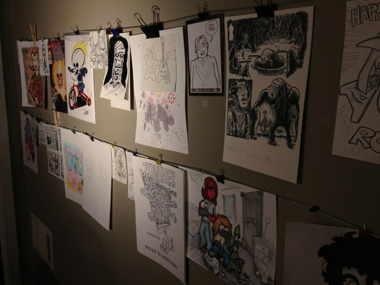 Close Up of My Art Wall