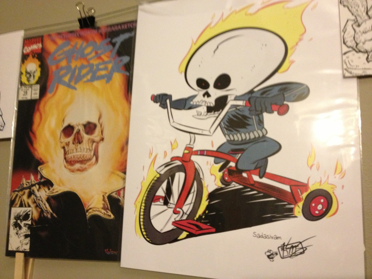 Little Ghost Rider Print - to the right of Ghost Rider #18