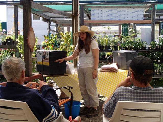 worm composting demonstration