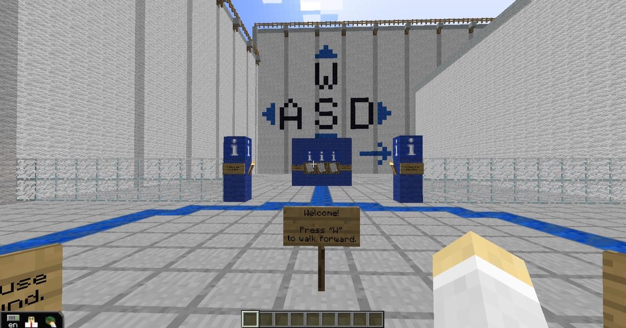 MinecraftEDU's tutorial level.