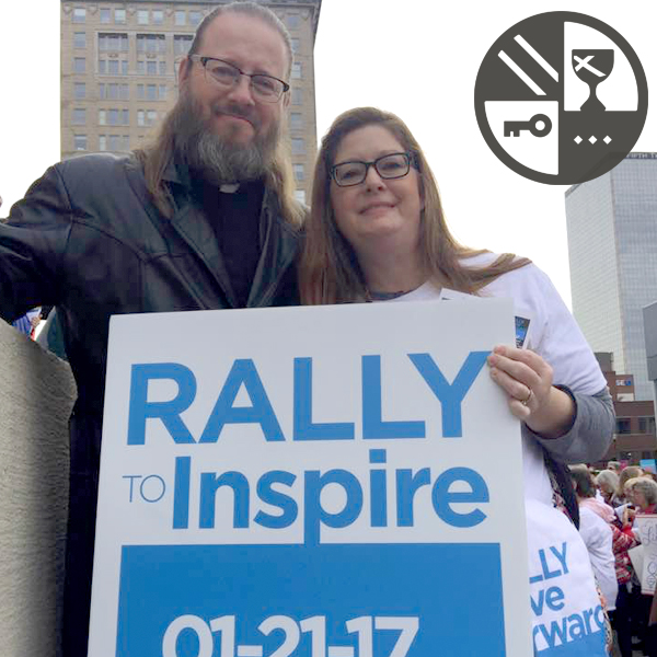 Derek and Jennifer at the  Rally to Inspire  in Downtown Louisville.